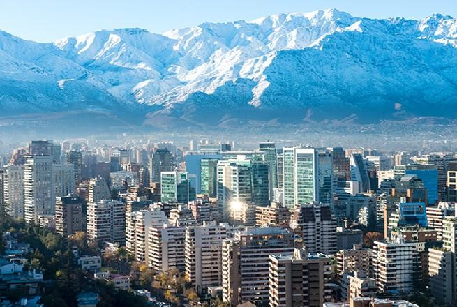 A capital do Chile, Santiago.